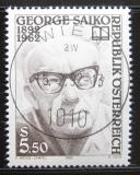 Poštovní známka Rakousko 1992 George Saiko, básník Mi# 2053