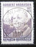 Poštovní známka Rakousko 1992 Norbert Hanrieder, básník Mi# 2061