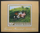 Poštovní známka Maďarsko 1966 Umění Mi# Block 56
