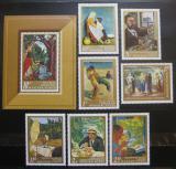 Poštovní známky Madarsko 1967 Umění Mi# 2370-76 + Block 61