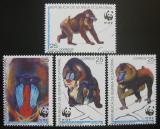 Poštovní známky Rovníková Guinea 1991 Mandril rýholící, WWF Mi# 1731-34