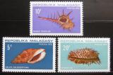 Poštovní známky Madagaskar 1970 Škeble Mi# 618-20