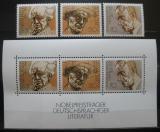Poštovní známky Německo 1978 Spisovatelé Mi# 959-61 + Block 16
