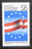 Poštovní známka Rakousko 1986 Vstup do Rady Evropy Mi# 1842
