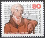 Poštovní známka Německo 1986 Carl Maria von Weber, skladatel Mi# 1284