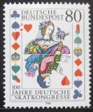 Poštovní známka Německo 1986 Skatový kongres Mi# 1293