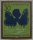 Poštovní známka Německo 1978 Clemens Brentano, básník Mi# 978