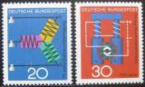 Poštovní známky Německo 1966 Vědecký pokrok Mi# 521-22