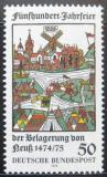 Poštovní známka Německo 1975 Neuss, dřevořezba Mi# 843