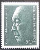 Poštovní známka Německo 1976 Konrad Adenauer Mi# 876