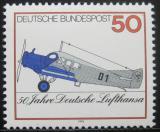 Poštovní známka Německo 1976 Lufthansa, 50. výročí Mi# 878