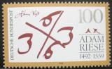 Poštovní známka Německo 1992 Adam Riese, matematik Mi# 1612