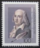 Poštovní známka Německo 1993 Friedrich Holderlin, básník Mi# 1681
