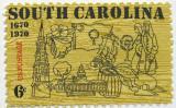 Poštovní známka USA 1970 Osídlení Charlestonu Mi# 1009