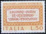 Poštovní známka Itálie 1974 Citát ze satiry Manipean Mi# 1463