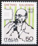 Poštovní známka Itálie 1973 Gaetano Salvemini, historik Mi# 1415
