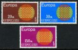 Poštovní známky Kypr 1975 Evropa CEPT Mi# 332-34