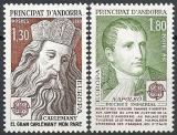 Poštovní známky Andorra Fr. 1980 Evropa CEPT Mi# 305-06