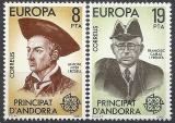Poštovní známky Andorra Šp. 1980 Evropa CEPT Mi# 131-32