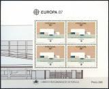 Poštovní známky Portugalsko 1987 Evropa CEPT Mi# Block 54 Kat 12€