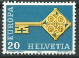 Poštovní známka Švýcarsko 1968 Evropa CEPT Mi# 871