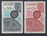 Poštovní známky Andorra Fr. 1967 Evropa CEPT Mi# 199-200 Kat 12€