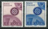 Poštovní známky Itálie 1967 Evropa CEPT Mi# 1224-25