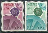 Poštovní známky Monako 1967 Evropa CEPT Mi# 870-71
