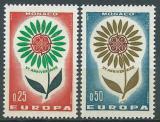 Poštovní známky Monako 1964 Evropa CEPT Mi# 782-83