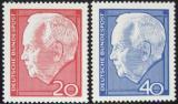 Poštovní známky Německo 1964 Prezident Heinrich Lübke Mi# 429-30