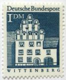 Poštovní známka Německo 1966 Dům Melanchthon, Wittenberg Mi# 500