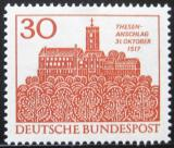 Poštovní známka Německo 1967 Wartburg, Eisenach Mi# 544