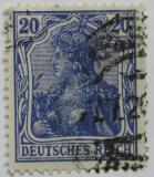 Poštovní známka Německo 1906 Germania Mi# 87 I