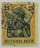Poštovní známka Německo 1906 Germania Mi# 88 I