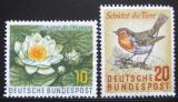 Poštovní známky Německo 1957 Ochrana přírody Mi# 274-75