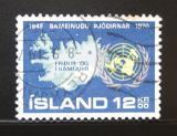Poštovní známka Island 1970 OSN, 25. výročí Mi# 449