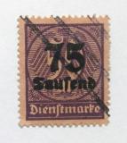 Poštovní známka Německo 1923 Služební, přetisk Mi# 91