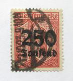 Poštovní známka Německo 1923 Služební, přetisk Mi# 93