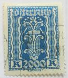 Poštovní známka Rakousko 1923 Symbol práce Mi# 395