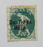 Poštovní známka Německo 1920 Rozsévač, přetisk Mi# 126