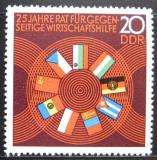 Poštovní známka DDR 1974 Vlajky členů COMECON Mi# 1918