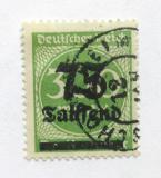 Poštovní známka Německo 1923 Nominál, přetisk Mi# 286 Kat 18€
