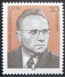 Poštovní známka DDR 1980 Werner Eggerath Mi# 2500