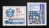 Poštovní známky DDR 1978 Světový den telekomunikace Mi# 2316-17