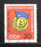 Poštovní známka DDR 1966 Státní organizace mládeže Mi# 1167