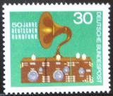Poštovní známka Německo 1973 Staré rádio Mi# 786