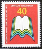 Poštovní známka Německo 1972 Mezinárodní rok knihy Mi# 740