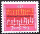 Poštovní známka Německo 1972 Notový zápis, Schutz Mi# 741