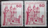 Poštovní známky Německo 1977 Zámek Neuschwanstein Mi# 916 C-D