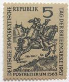 Poštovní známka DDR 1957 Den známek Mi# 600